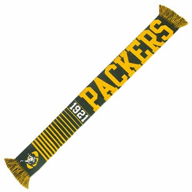 Green Bay Packers NFL Retro Throwback Vintage Team Knit Scarf