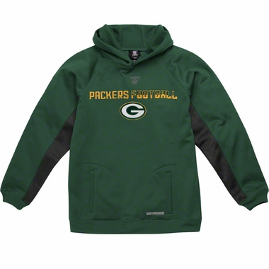 Green Bay Packers NFL YOUTH Endurance Performance Pullover Hooded Sweatshirt