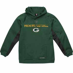 Green Bay Packers NFL YOUTH Endurance Performance Pullover Hooded Sweatshirt - Large