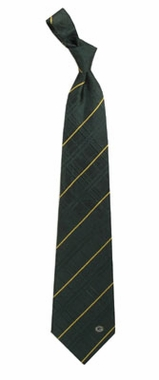 Green Bay Packers Oxford Stripe Woven Silk Necktie