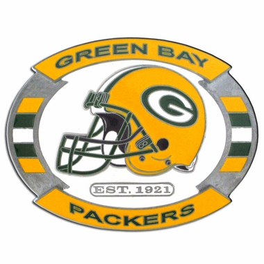 Green Bay Packers Enameled Belt Buckle