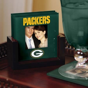 Green Bay Packers Photo Coaster Set