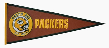 Green Bay Packers Pigskin Pennant