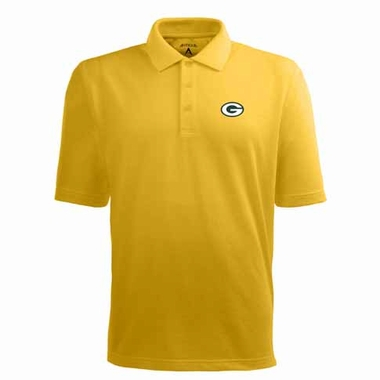 Green Bay Packers Mens Pique Xtra Lite Polo Shirt (Alternate Color: Gold)