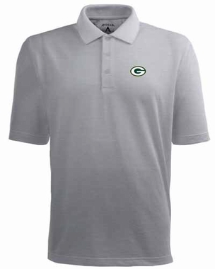 Green Bay Packers Mens Pique Xtra Lite Polo Shirt (Color: Gray)