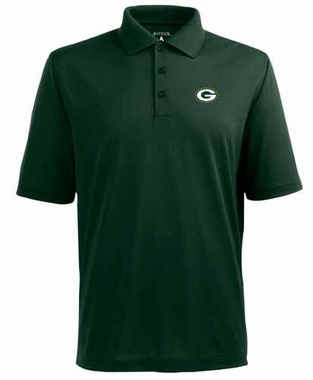 Green Bay Packers Mens Pique Xtra Lite Polo Shirt (Team Color: Green)