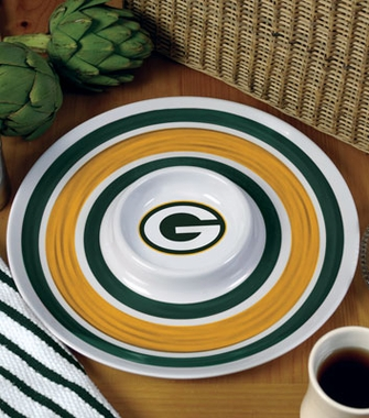Green Bay Packers Plastic Chip and Dip Plate