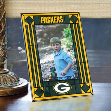 Green Bay Packers Portrait Art Glass Picture Frame