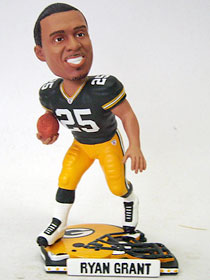 Green Bay Packers Ryan Grant 2009 Helmet Base Bobblehead