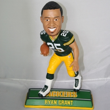 Green Bay Packers Ryan Grant 2010 Endzone Bobblehead
