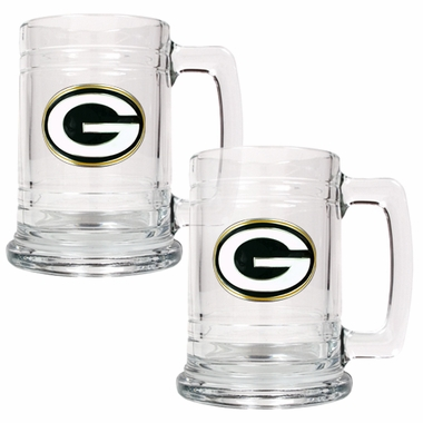 Green Bay Packers Set of 2 15 oz. Tankards