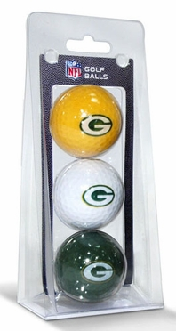 Green Bay Packers Set of 3 Multicolor Golf Balls