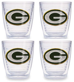 Green Bay Packers Set of FOUR 12 oz. Tervis Tumblers