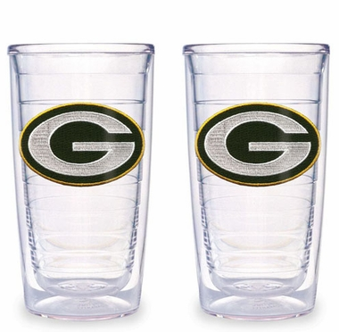 Green Bay Packers Set of TWO 16 oz. Tervis Tumblers