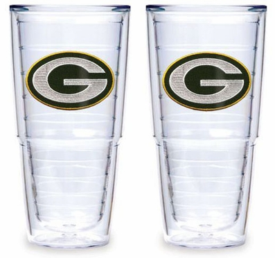 """Green Bay Packers Set of TWO 24 oz. """"Big T"""" Tervis Tumblers"""