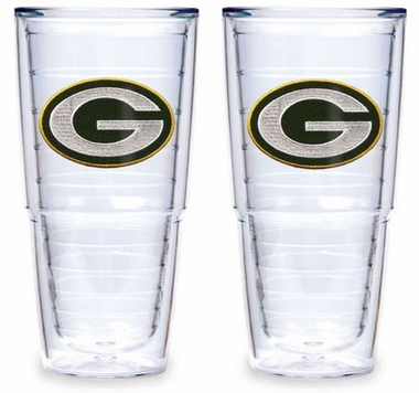 "Green Bay Packers Set of TWO 24 oz. ""Big T"" Tervis Tumblers"