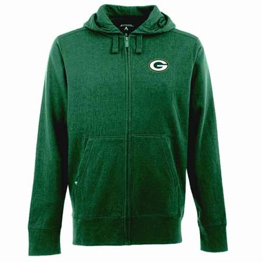 Green Bay Packers Mens Signature Full Zip Hooded Sweatshirt (Team Color: Green)