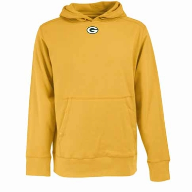 Green Bay Packers Mens Signature Hooded Sweatshirt (Alternate Color: Gold)