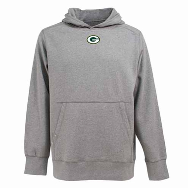 Green Bay Packers Mens Signature Hooded Sweatshirt (Color: Gray)