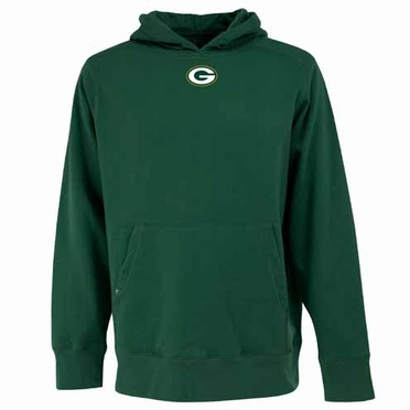 Green Bay Packers Mens Signature Hooded Sweatshirt (Team Color: Green)