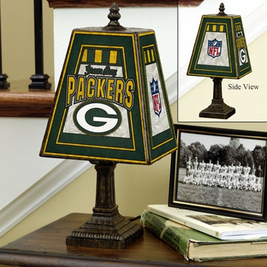 Green Bay Packers Small Art Glass Lamp
