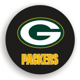 Green Bay Packers Spare Tire Cover (Small Size)