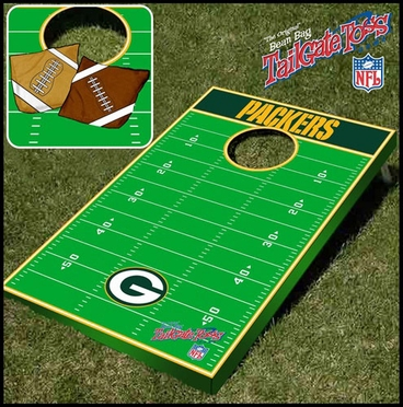 Green Bay Packers Tailgate Toss Cornhole Beanbag Game