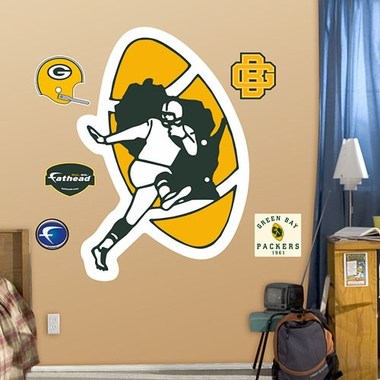 Green Bay Packers Throwback Logo Fathead Wall Graphic