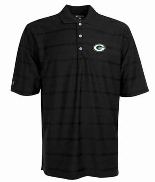 Green Bay Packers Mens Tonal Polo (Team Color: Black)