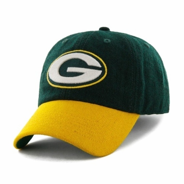 Green Bay Packers Two Tone Brooksby Melton Wool Adjustable Hat