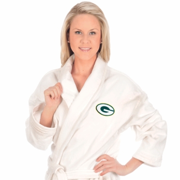 Green Bay Packers UNISEX Bath Robe (White)