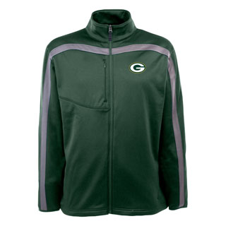 Green Bay Packers Mens Viper Full Zip Performance Jacket (Team Color: Green)