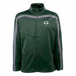 Green Bay Packers Mens Viper Full Zip Performance Jacket (Team Color: Green) - Large