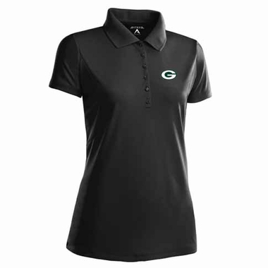 Green Bay Packers Womens Pique Xtra Lite Polo Shirt (Color: Black)