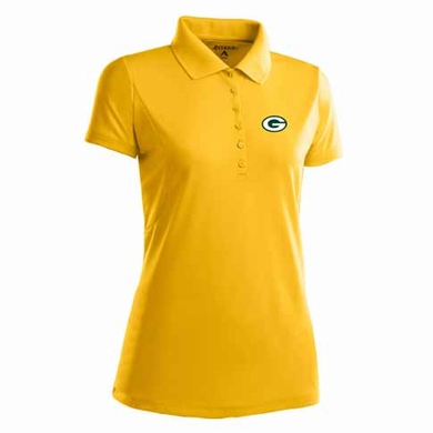 Green Bay Packers Womens Pique Xtra Lite Polo Shirt (Team Color: Gold)