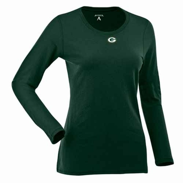 Green Bay Packers Womens Relax Long Sleeve Tee (Team Color: Green)