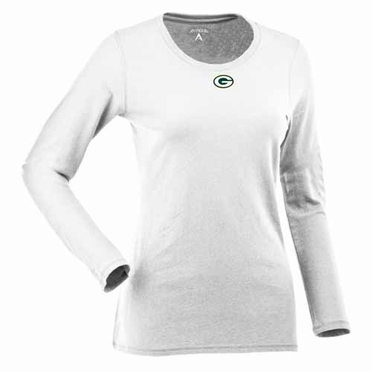 Green Bay Packers Womens Relax Long Sleeve Tee (Color: White)