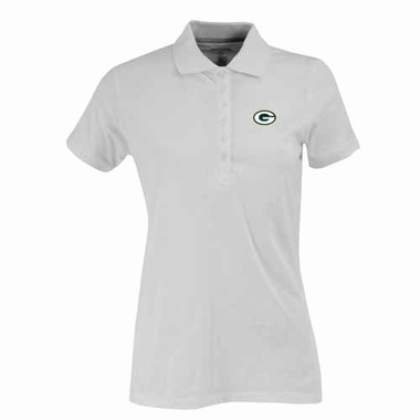 Green Bay Packers Womens Spark Polo (Color: White)