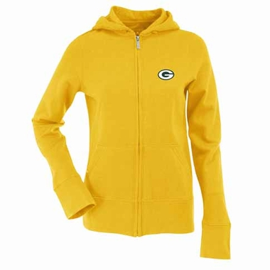 Green Bay Packers Womens Zip Front Hoody Sweatshirt (Color: Gold)