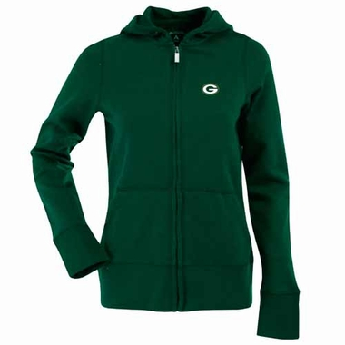 Green Bay Packers Womens Zip Front Hoody Sweatshirt (Team Color: Green)