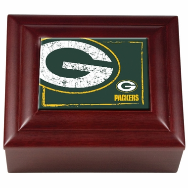 Green Bay Packers Wooden Keepsake Box