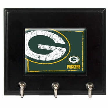 Green Bay Packers Wooden Keyhook Rack