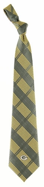 Green Bay Packers Woven Plaid Necktie