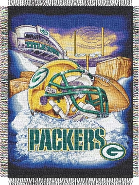 Green Bay Packers Woven Tapestry Blanket