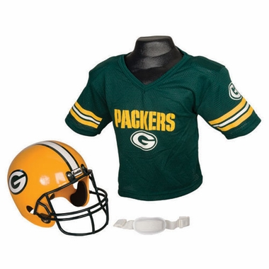 Green Bay Packers Youth Helmet and Jersey Set