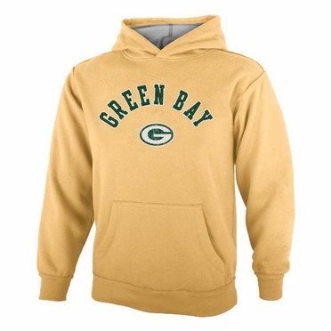 Green Bay Packers YOUTH NFL Vintage Garment Washed Hooded Sweatshirt