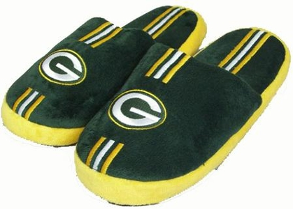 Green Bay Packers YOUTH Team Stripe Slide Slippers