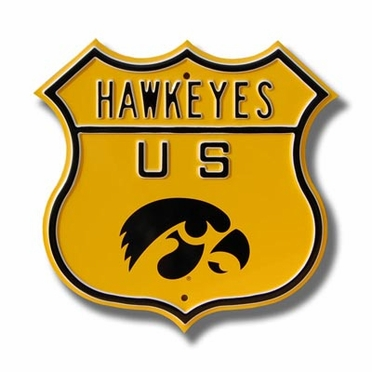 Hawkeyes Route Sign