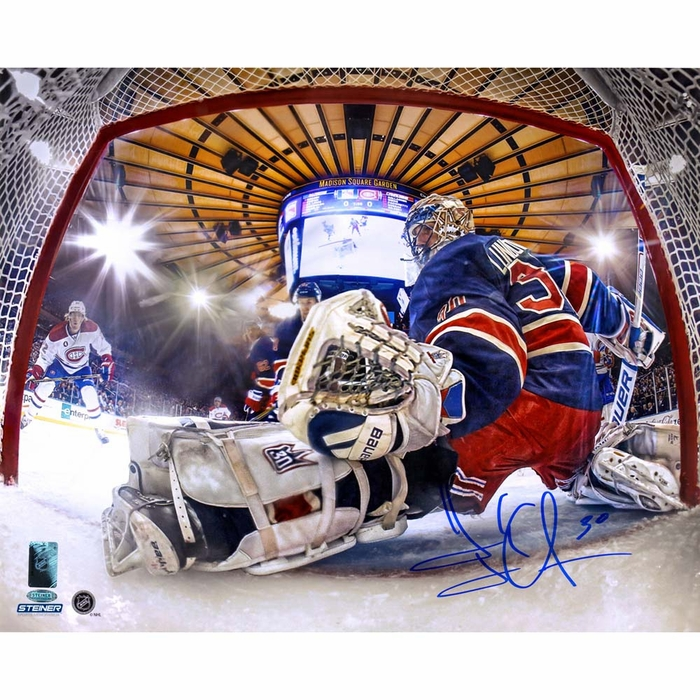 Henrik Lundqvist Signed Glove Save In Net View 16x20 Photo  Signed in    Henrik Lundqvist Glove Save