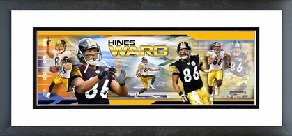 Hines Ward Framed / Double Matted Photoramic